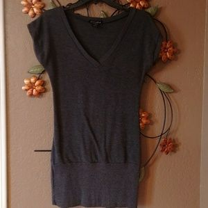 Tops - Gray V-Neck Tunic